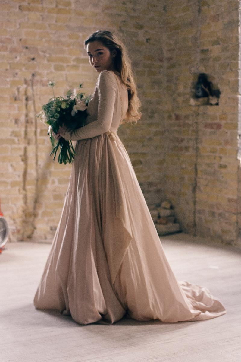 Home Wedding Dresses Fluffy Silk Batiste Lace Lining Dress