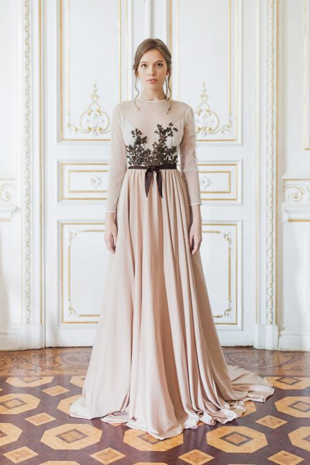 Floor, Silk-satin Wedding Dresses | Cathy Telle