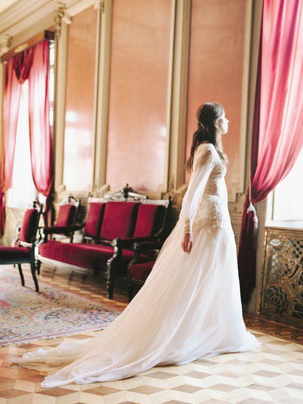 Bishop sleeve wedding gown
