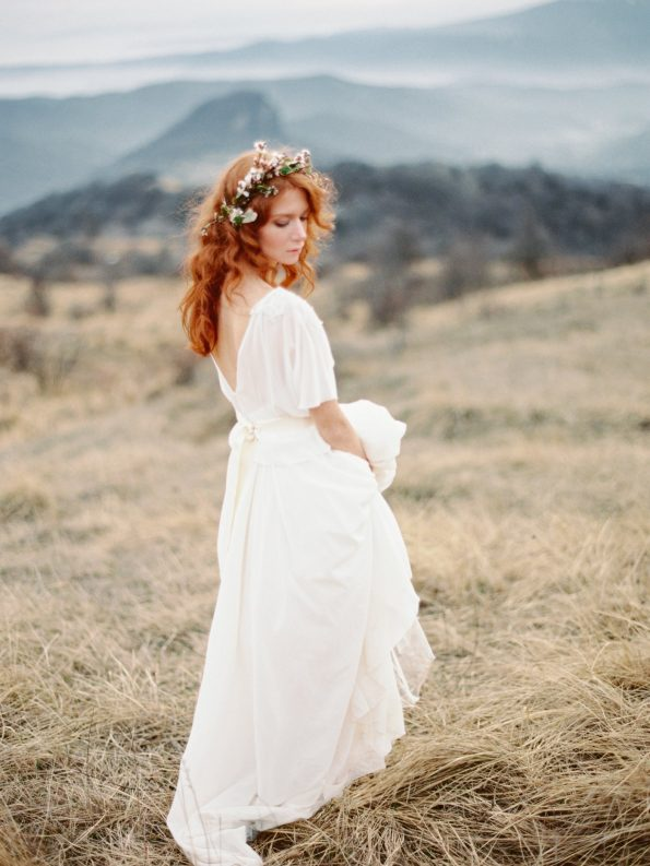 Wedding Dress with Removable Bolero