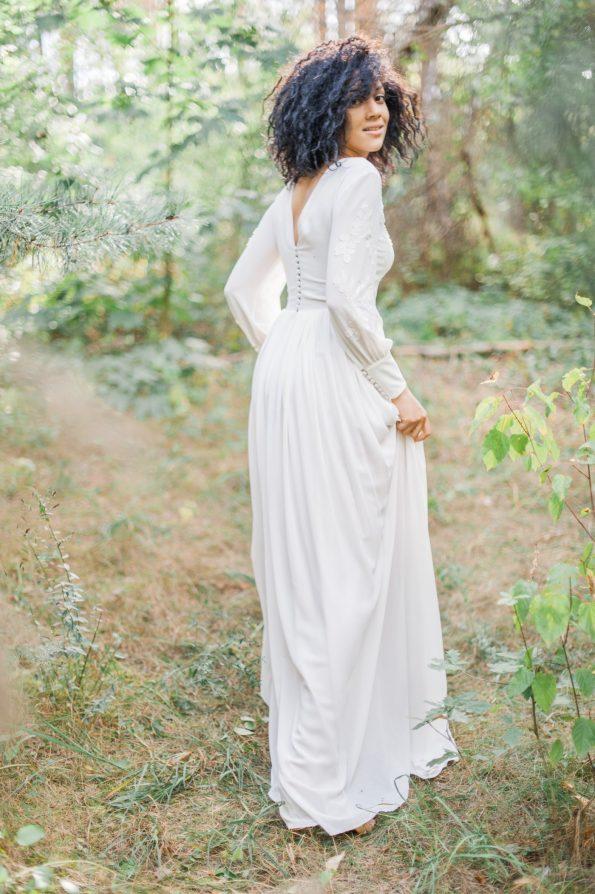 Bishop sleeve wedding dress